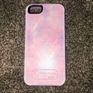 PINK IPHONE 5 OTTER BOX CASE